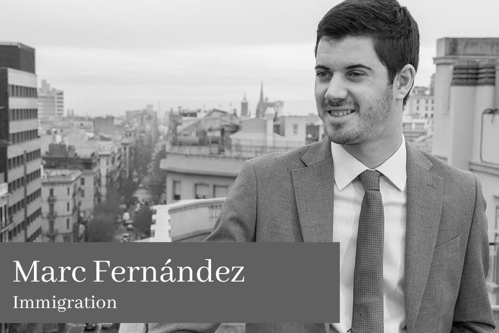 Marc Fernández de la Peña Immigration