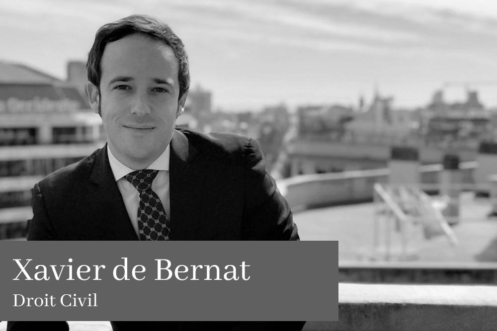 Xavier de Bernat Jiménez Droit Civil AGM Avocats
