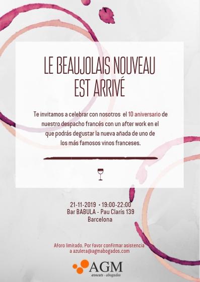 Invitacion beaujolais nouveau
